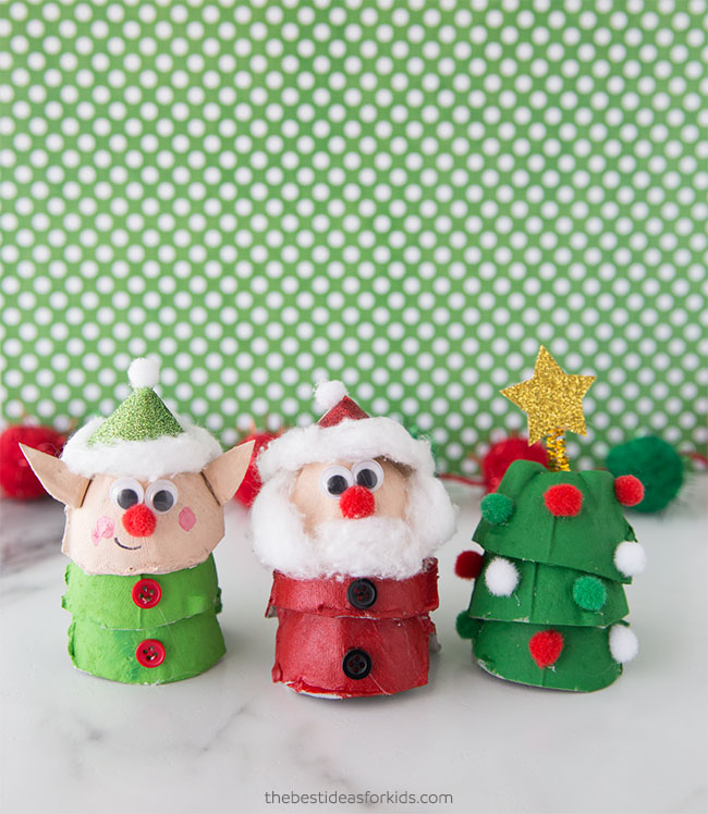 Egg Carton Christmas Decor