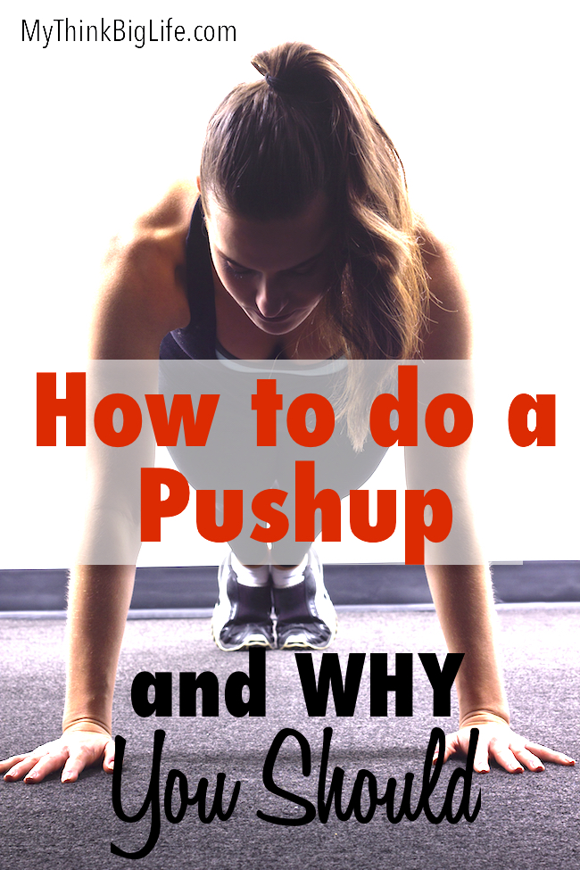 Here's how to learn to do a push up and why it's worth doing. I finally learned how to do a push up after years of going about it all wrong. Pushups are an amazing whole body exercise and worth mastering to get the benefits