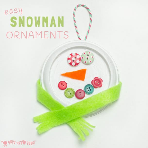 Easy Snowman Ornaments to Make with Grandchildren