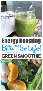 Do you want to raise your energy without caffeine? This energy boosting green smoothie, full of nutritious vegetables, will invigorate you any time of the day minus the negative effects of caffeine. This clean vegan, dairy-free smoothie is also great for my skin and my body too!