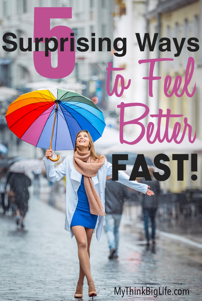 Sometimes we need some Emotional First Aid and we need it fast. Here are 5 surprising ways to feel better fast that work quickly and effectively. No mediation required! I use these all the time myself and they really help.