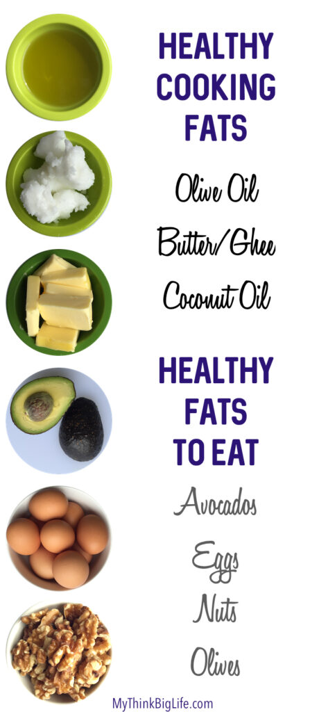 Healthy fats actually make food taste much better because they each have their own flavor and add deliciousness to your meals. Foods such as nuts, eggs, olives, and avocados make wonderful additions to your meals and provide essential fats.