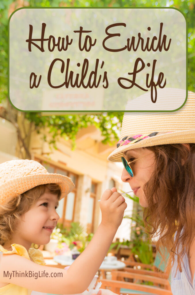 Picture of grandmother and grandchild to pin to Pinterest for How to Enrich a Child's Life
