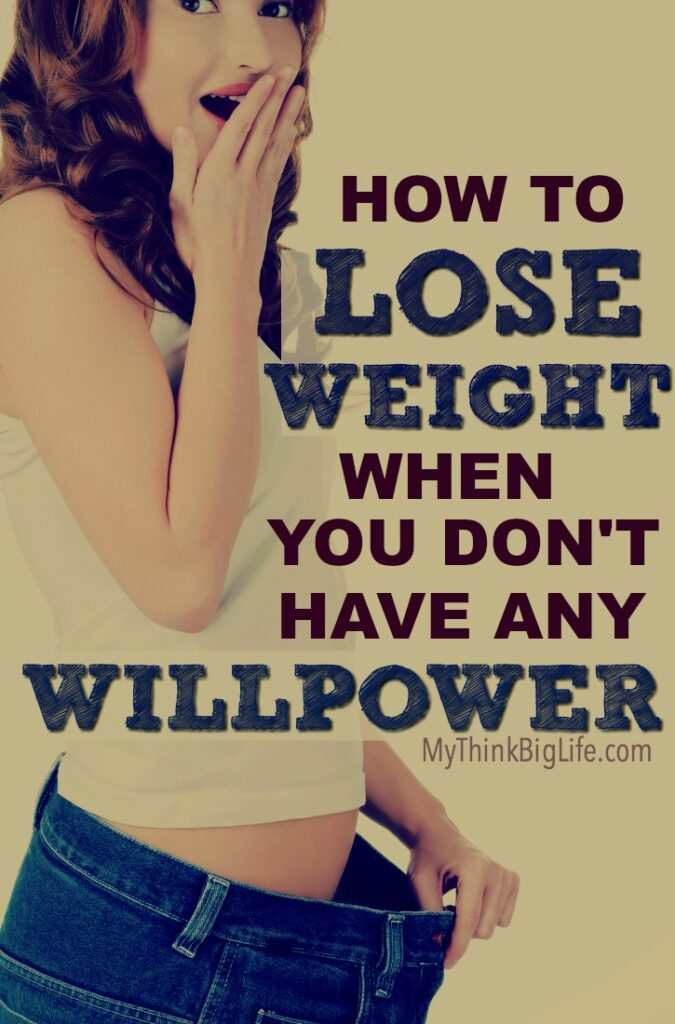 Using willpower is one of the least effective methods for losing weight because instead of it getting easier with time—it gets harder. In the end, most people who use willpower to lose weight end up gaining the weight back plus a few extra pounds. It's time to learn how to lose weight when you don't have any willpower.
