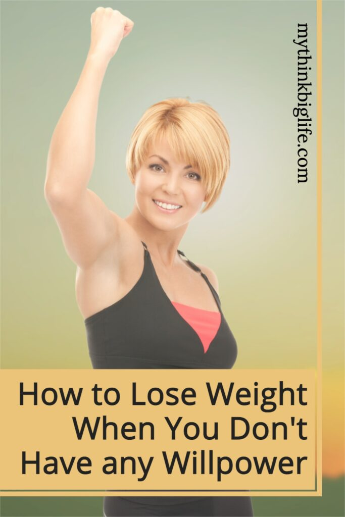 Using willpower to lose weight is one of the least effective methods for losing weight, because instead of it getting easier with time—it gets harder.