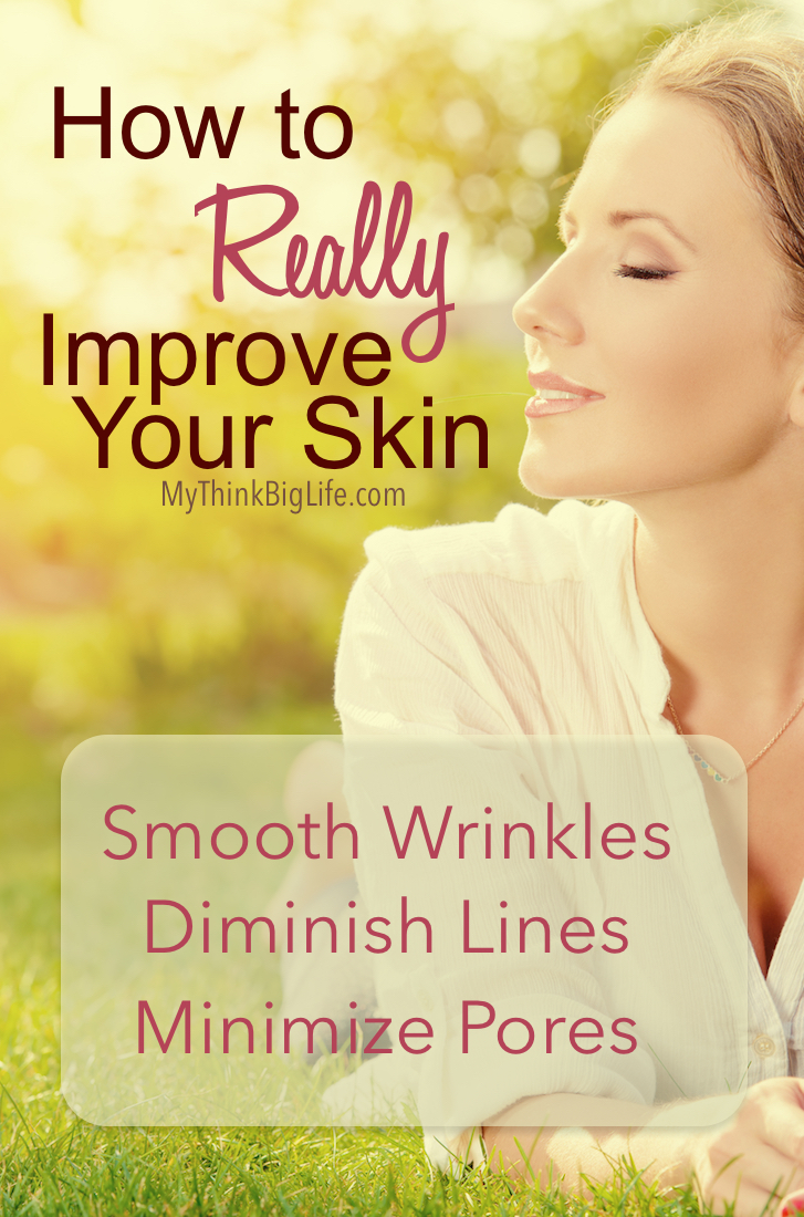 Your skin has the ability to heal, change, and improve throughout your life. You absolutely can improve the appearance of your skin by smoothing lines, diminishing wrinkles, and minimizing pores. I use nutrition, relaxation, exercise, and good products to get results.