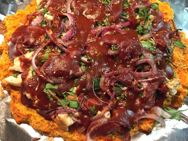 This Healthy Barbecue Chicken Pizza is so good, I now wish I had made more!