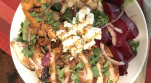 Picture of roasted beets and sweet potato salad
