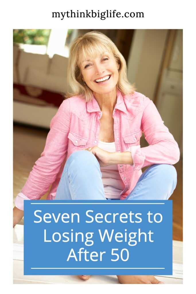 Picture of smiling woman. Most of what we have been taught about losing weight is wrong. Here are seven secrets to losing weight after 50