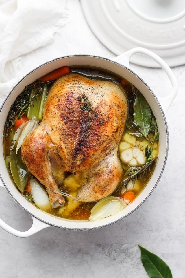Roasted chicken healthy soup recipe