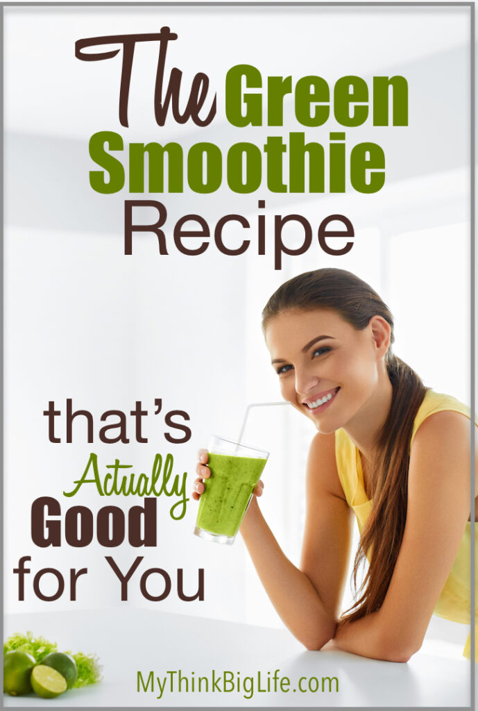 Here's a green smoothie recipe that's good for you! It's loaded with greens and still tastes great thanks to a couple of ingredients