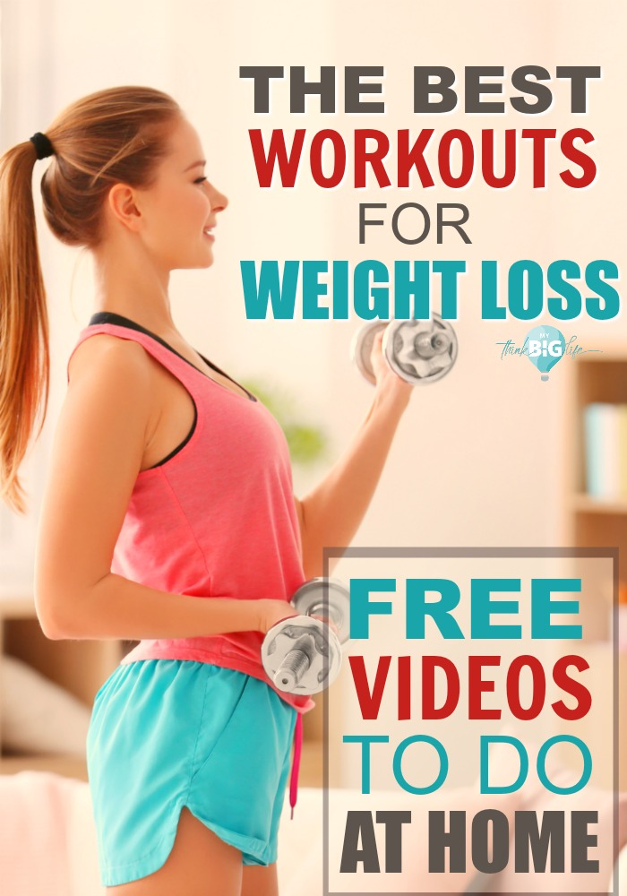 Here are 10 FREE exercise videos that you can mix and match to burn fat and lose weight. Total body fitness videos are the best workouts for weight loss that I've found.
