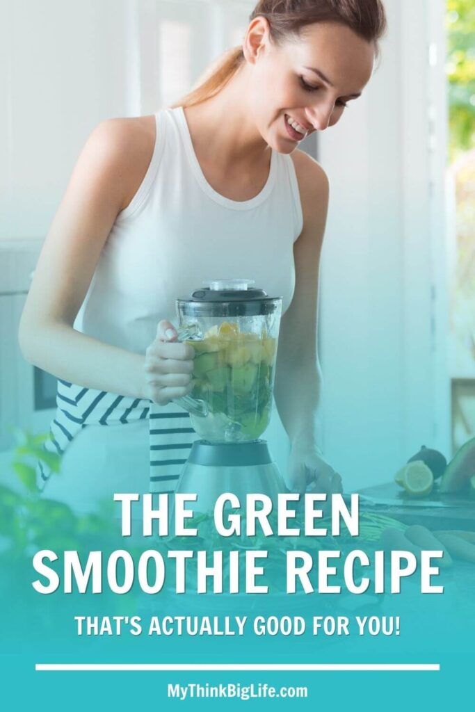 My favorite green smoothie recipe that is actually good for you!