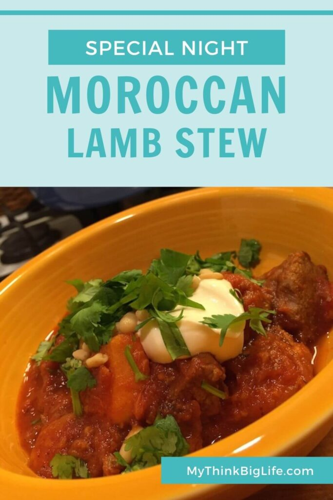 Learn my recipe for Moroccan Lamb Stew! Perfect for special nights!