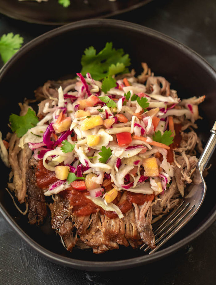 Slow Cooker Pork Chops with Pineapple Cole Slaw is one of the 25 delicious Paleo Whole30 Recipes