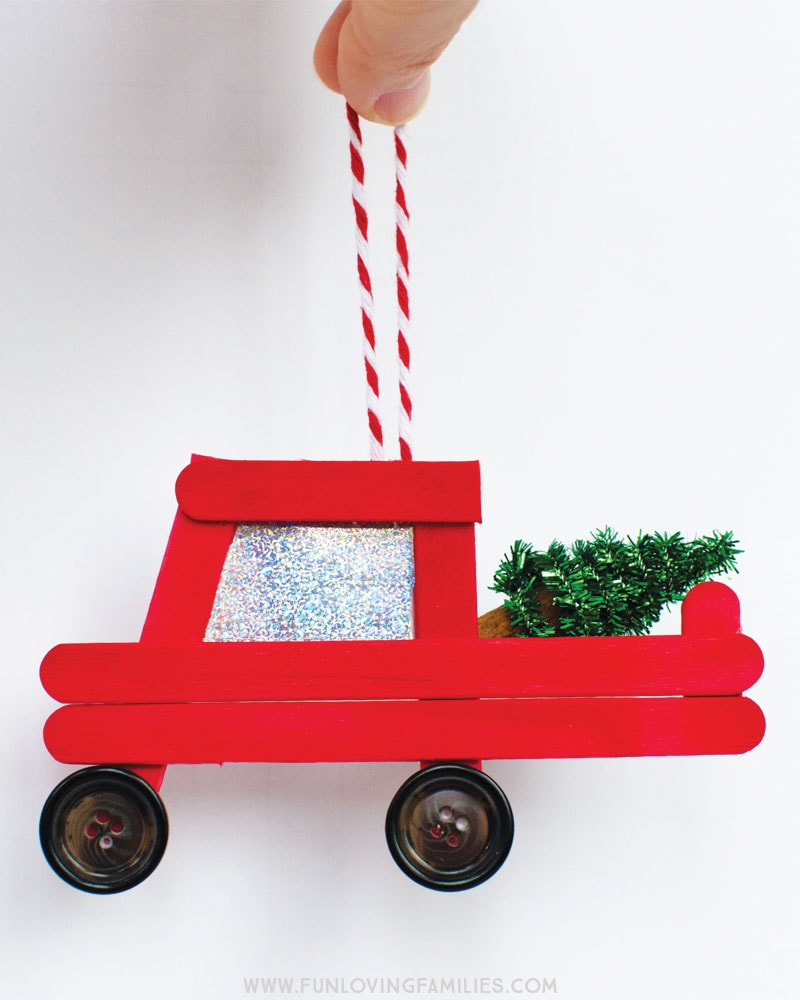 Red Truck Christmas ornament to make with grandchildren