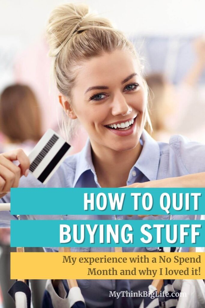 How to Quit Buying Stuff